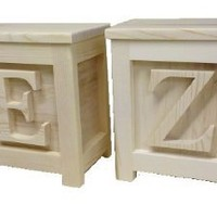 Amazon.com: TWO Wooden Block Step Stools - Made to Order Unpainted: Home &amp; Kitchen