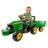 Peg Perego John Deere Farm Power with Trailer Battery Powered Riding Toy | www.hayneedle.com