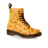 Dr Martens 1460 W Boots - Sun Yellow Little Flowers