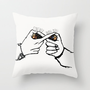 FOREVER WITH U Throw Pillow by Sara Eshak