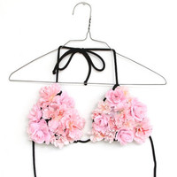 FLORAL POP bikini handmade one off by napkinitems on Etsy