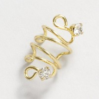 Gold Swirl Ear Cuff with Crystal Gems – Claire's