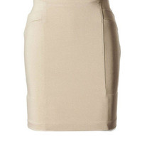 Stylicious Pencil Skirt - Khaki - Tailor and Stylist