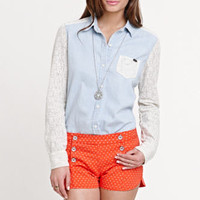 Roxy Crochet Chambray Shirt at PacSun.com