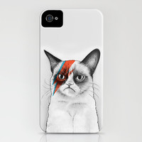 Grumpy Cat as Grumpy Bowie, David NOie iPhone Case by Olechka | Society6