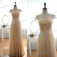 A line straps bridesmaid dress, evening dress, prom dress, evening gowns, custom made dress
