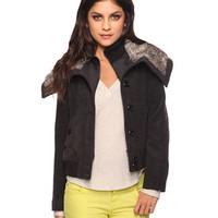 Bomber Jacket <br>w/ Faux Fur Collar | FOREVER 21 - 2002929390