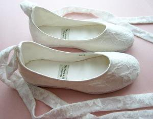 Ecochic Handmade Vegan Bridal Ballet Flats 