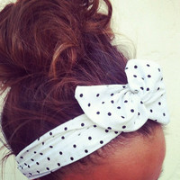 Polka Dot Dolly Bow Headband