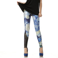 Van Gogh The Starry Night Leggings Pants from Galaxy Leggings