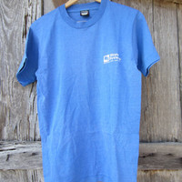 90&#x27;s Blue Texas Waste Systems T-Shirt, S-M // Vintage Screen Stars Best T-Shirt