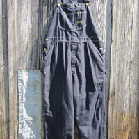 70s Toughskins Rockabilly Denim Overalls // 42x30 // Vintage Work Pants // Farmer Dungarees