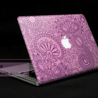 pink flower Decal for Macbook Pro, Air or Ipad Stickers Macbook Decals Apple Decal for Macbook Pro / Macbook Air J-022