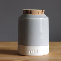 custom Medium pet urn modern simple pottery ceramic lidded vessel