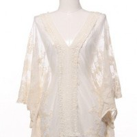 Charming Boho Lace Flutter Top