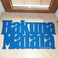 Doormat Hakuna Matata. The Lion King. Custom door mat. It means no worries