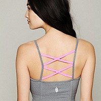 Solow Sport  Criss Cross Midi Bra at Free People Clothing Boutique