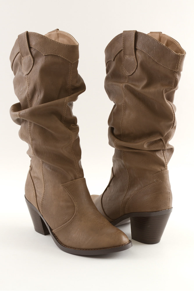 black brown cowboy style boot heel from for elyse