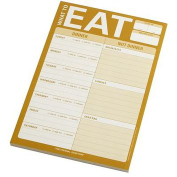 What to Eat Notepad