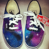 Galaxy Keds/Vans/Toms You decide by taylorshandmadegifts on Etsy