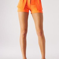 Orange Peplum Shorts