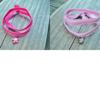 Pink Stretch Wrap Bracelets - Choose your style