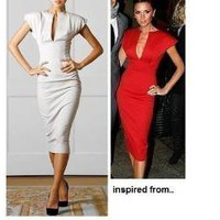 Pencil Dress-Inspired by Victoria Beckham-by Heart My Closet
