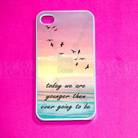 iphone 4 Case, iPhone  case, Young quote   iPhone 4 Case, Iphone 4s Cover,Case for iPhone 4