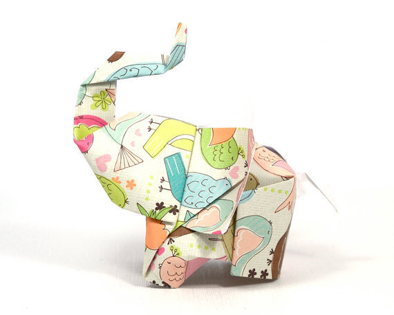 Elephant in the room No6 3D free style origami by JinniInTheLamp