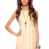 Live in Love Dress in Peach :: tobi