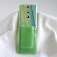 Mint Green Glass Pocket Magnetic Vase by bprdesigns on Etsy