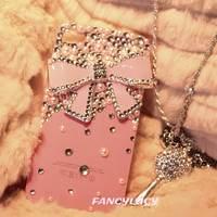 iPhone case, iPhone 4 case, iPhone 4s case, iPhone 5 case, Bling iPhone 4 case, Bling iPhone 5 case, Pink iphone 4 case pink bow