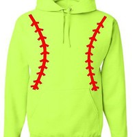 Softball Pullover Hooded Sweatshirt