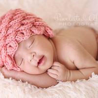 Boutique Pink Petals Hat by MySweetPotato3 on Etsy