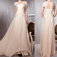 lace prom dress, long prom dress, cheap prom dress, evening prom dresses, RE080