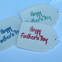 Happy Fathers Day Gift Tag in Porcelain