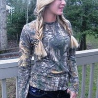 Lady Belle's Woman's Long Sleeve T-Shirt - Realtree Camouflage