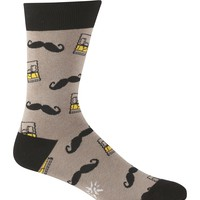 Whiskey Stache Men's Crew Socks by Sock it To Me - Whimsical & Unique Gift Ideas for the Coolest Gift Givers