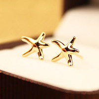 Starfish Rose Gold Fashion Earrings | LilyFair Jewelry