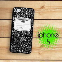 iPhone 5 Case Composition College Notebook   / Hard Case For iPhone 5 Plastic or Rubber Trim