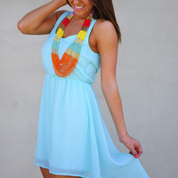 Can't Wait To Be Seen Dress: Bright Blue | Hope's