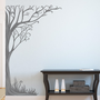 Twine Corner Tree Wall Decal - Floral Vinyl Art