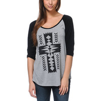 Empyre Girls Native Cross Baseball Tee Shirt