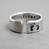 Custom Mother's Day Gift - New Mom Ring - Personalized with Name
