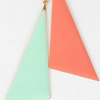 Mod Triangle Earrings in Mint and Blush :: tobi