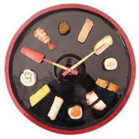 Kirch Brand Refresh Sushi Clock-New Designed - 16x16x1.75