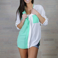 Fresh Mint Blouse
