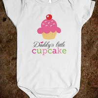 Daddy's little cupcake cute jumpsuit for baby girls