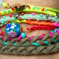 Braided Leather Wrap Friendship Bracelets Free by zurdokero