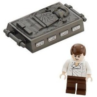 Han Solo and Carbonite (Return Of The Jedi) - LEGO Star Wars Minifigure (Appr